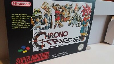 Chrono Trigger  - Repro box with insert - NTSC or PAL REGION - SNES.