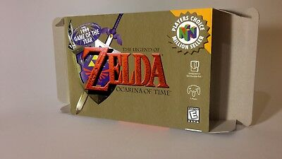 The Legend of Zelda Ocarina Of Time - box and insert - N64 - Pal or NTSC REGION