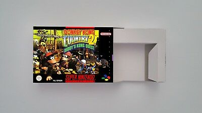 Donkey Kong Country 2  - Repro box with insert - NTSC/ PAL - SNES.