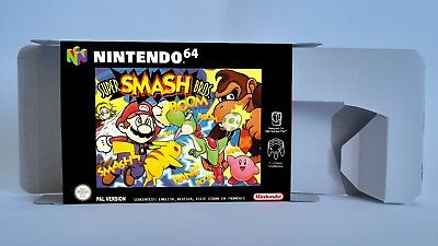 Super Smash Bros  - repro box with insert - N64 - Pal, Australian or NTSC REGION
