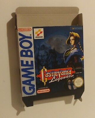 Castlevania Legends  - box only - GB/ Game Boy - thick cardboard.