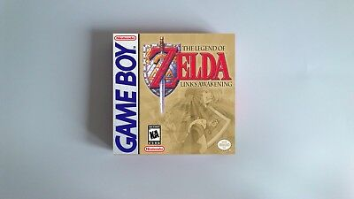 The Legend of Zelda Links Awakening  - box only - GB - thick cardboard.