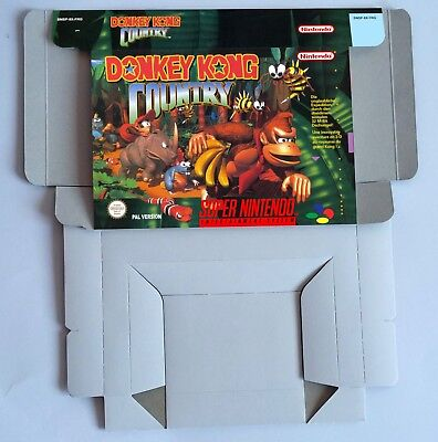 Donkey Kong Country - BOX reproduction ONLY  PAL or NTSC - Super Nintendo.