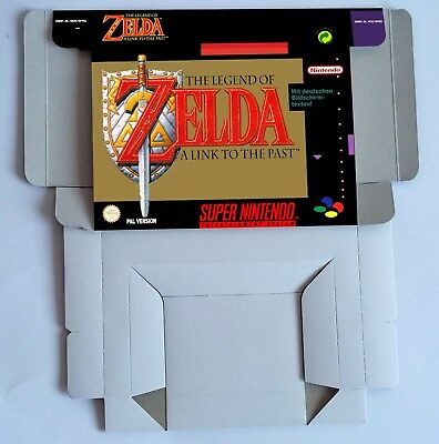 The Legend of Zelda a Link to The Past - BOX ONLY  PAL or NTSC - Super Nintendo.