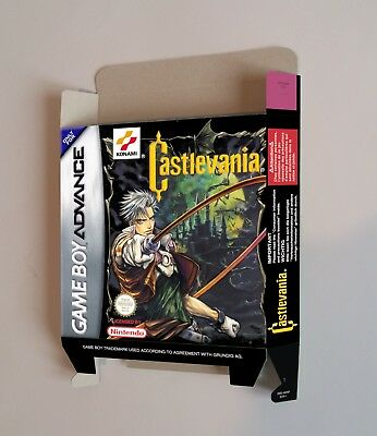Castlevania - GameBoy Advance - box only - thick cardboard.
