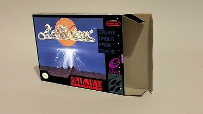 Act Raiser - Repro box with insert - NTSC or PAL REGION - SNES/ Super Nintendo.