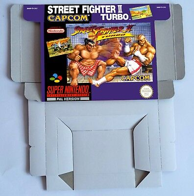 Street Fighter II Turbo - repro box with insert -  PAL -  UKV - SNES.