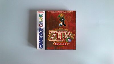 The Legend of Zelda Oracle of Seasons  - box only - GBC - thick cardboard.