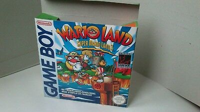 Wario Land Super Mario Land 3  - box only - Gameboy /GB - thick cardboard.