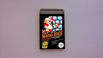 Super Mario Bros - NES - PAL or NTSC -  Repro box only -  thick cardboard.