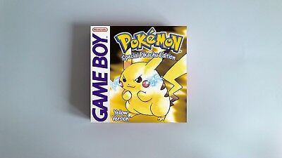 Pokemon Yellow  - box only - Gameboy /GB - thick cardboard. PAL, Autralian, NTSC