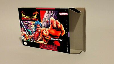 Breath Of Fire  - Repro box with insert - NTSC REGION - SNES.