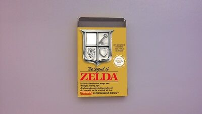 The Legend of Zelda - NES -  Repro box only -  thick cardboard.