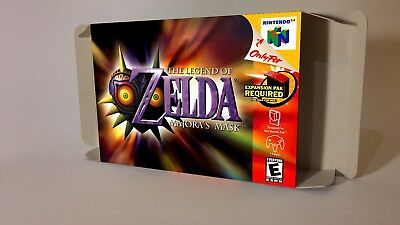 The Legend of Zelda Majoras Mask - box with insert - N64 - Pal, AU PAL  or NTSC