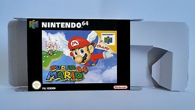 Super Mario 64 - repro box with insert- N64 - Pal, Australian PAL or NTSC REGION