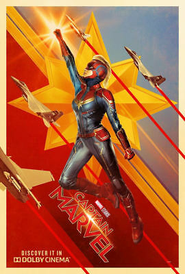 "Captain Marvel ( 11"" x 16.25"" ) Movie Collector's Poster Print (T5) - B2G1F"