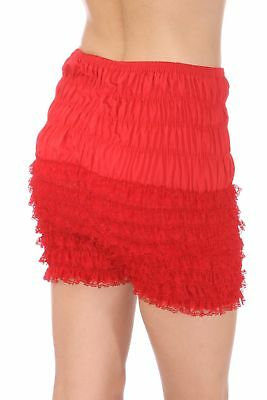 Malco Modes Womens Ruffle Panties Bloomers Dance Bloomers, Sissy Steampunk Red