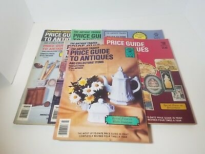 Lot of 7 Antique Trader Price Guide To Antiques Magazine 1970's 1980's