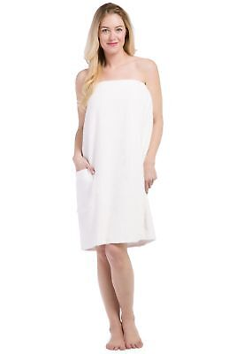399e903fc2 Fishers Finery Women s EcoFabric Resort Style Spa Wrap  Terry Cloth White