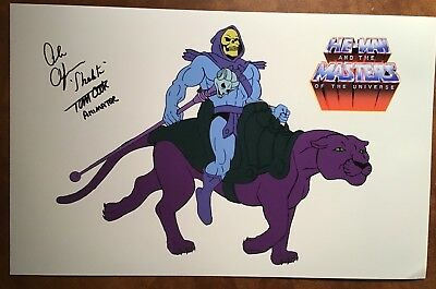 HE-MAN Voice of SKELETOR - ALAN OPPENHEIMER & Animator - TOM COOK Signed Photo