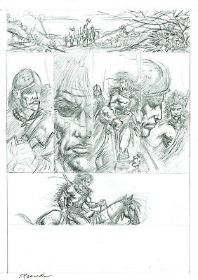 2000Ad Slaine Original Pencils Pages  - 2 Pieces!