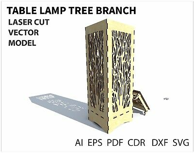 FILE DXF CDR EPS AI SVG for Laser Cut or CNC ROUTER Table lamp tree branch