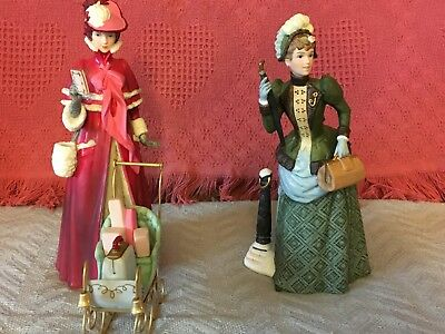 Avon Mrs. Albee Porcelain Figurines,  1987 and 1989