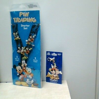 Disney Parks Mickey Mouse & Friends Pin Trading Starter Set and Lanyard, Bundle