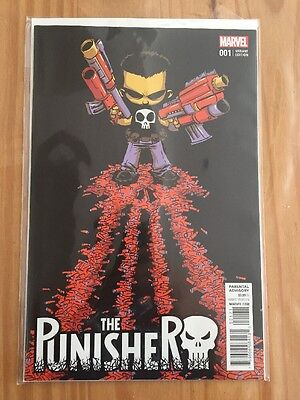 Punisher #1 2016 Cloonan & Dillon - Skottie Young Variant Marvel Comic Book NEW