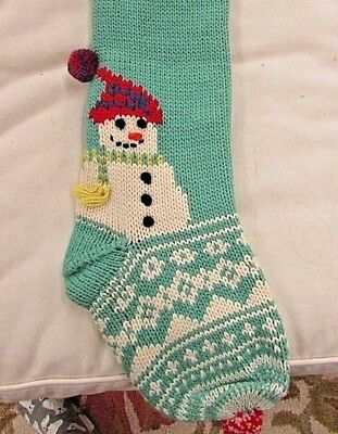 POTTERY BARN KIDS MERRY & BRIGHT CHRISTMAS STOCKING - SNOWMAN for EMMA, NEW