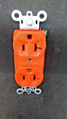 LOT OF 10 Pass Seymour IG5362 Duplex Isolated Ground 20A Receptacle ORANGE