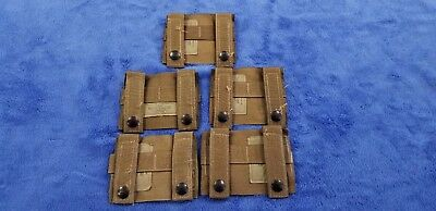 """NEW"" (Set-5) Molle K-BAR ADAPTERS, Coyote Tan, Genuine US Military, 4135CB"