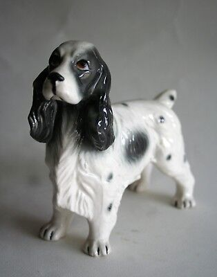English Springer Spaniel Collectible Standing Dog Figurine, Excellent Condition