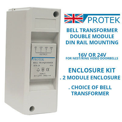 PROTEK Bell Transformer 16V 24V For Nest & Ring Door Bell Enclosure Wall Mounted