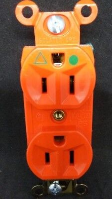 Pass Seymour IG8200 Isolated Ground DUPLEX RECEPTACLE 15A ORANGE FREE SHIPPING