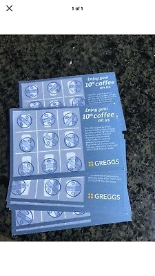 Greggs Loyalty Cards For Any Drink X10 Vouchers
