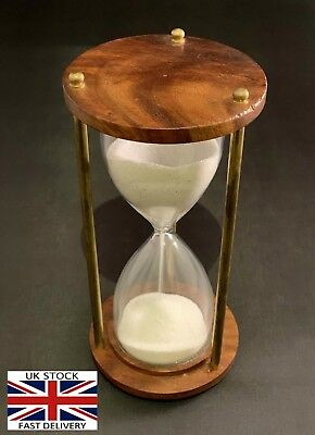 Wooden Antique Hourglass Sand timer Vintage Hourglass Maritime Nautical Decor 6""