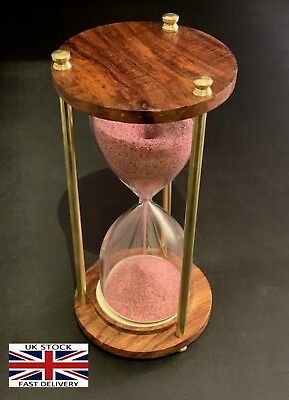 """Wooden Antique Hourglass Sand timer Vintage Hourglass Maritime Nautical Decor 6"""""""
