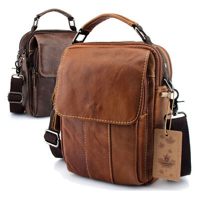 67689fd485fa Shoulder Men Crossbody Bag Messenger Satchel Genuine Leather Tablet Handbag