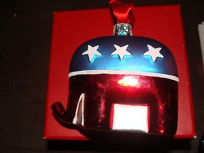 Waterford Ornament Elephant Republican Party Holiday Heirloom #144562