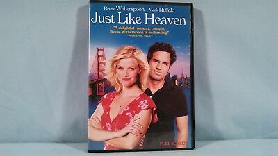 Just Like Heaven DVD 2006 Full Frame Reese Witherspoon Mark Ruffalo Comedy Movie