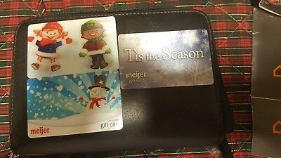 Set of 3 Meijer  Collectible Gift Cards,  Zero Balance Cards