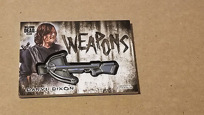 Topps Walking Dead Hunters/hunted Daryl Dixon Crossbow Weapon Medallion Card