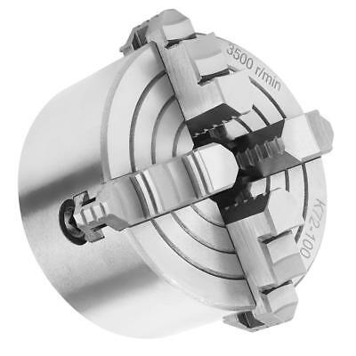 """Key Handle, Recessed Back 100mm (4"""") 4 Jaw Metal Lathe Chuck Independent Jaws"""