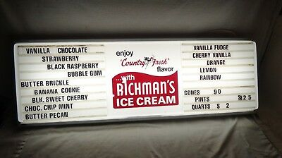 "Large Vintage Original Richman's Ice Cream lighted Sign:36""L X 12""H"