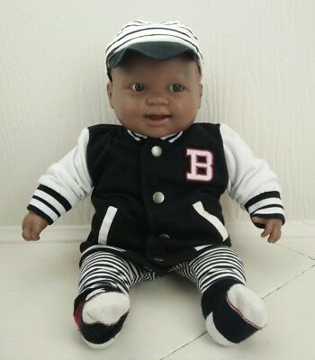 Berenguer Baby Doll Black Boy Doll Soft body Hard plastic 50 cm