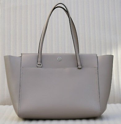 4102c7bd8b0  295 Tory Burch Parker Large Leather Tote Bag Top Zip - Dust Storm    Cardamom