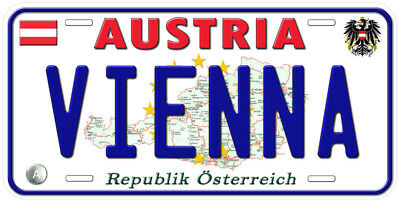 Austria Any Text Personalized Novelty Aluminum Car License Plate