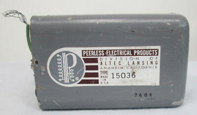 Single Vintage Altec Peerless Transformer 15036
