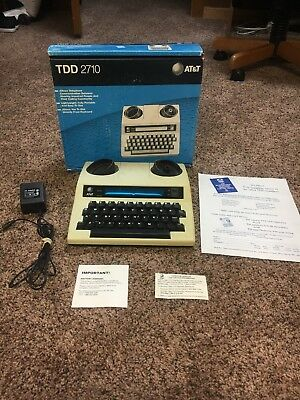 AT&T TDD 2710 TTY Teletype Phone System for Deaf/Hearing Impaired w/Box